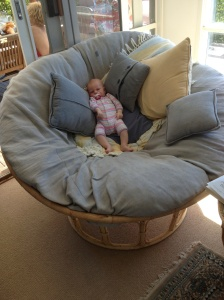 Maggie in the Papasan Chair