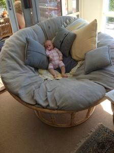 Maggie in the Papasan Chair