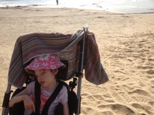 Tilda at the beach