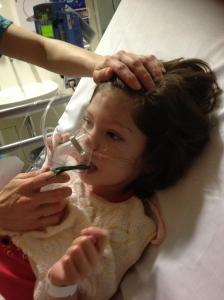 Tilda having a nebuliser treatment