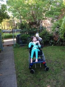 Outside in the garden