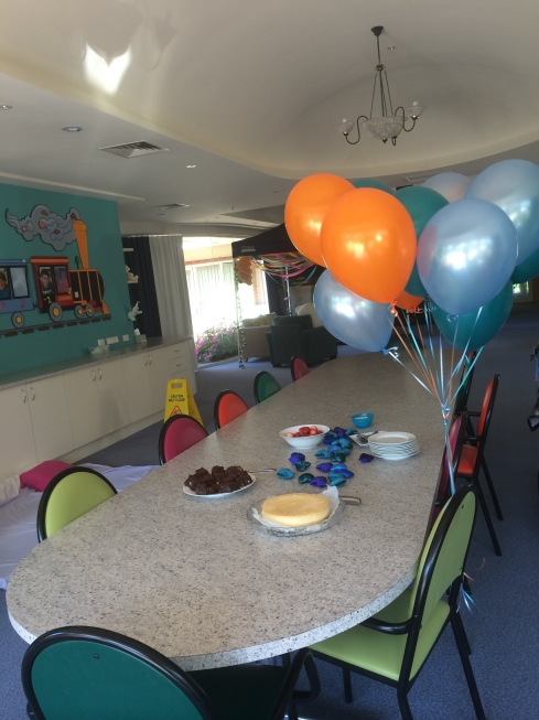 Cake and Balloons at VSK