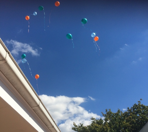 Balloons in the sky for Jack